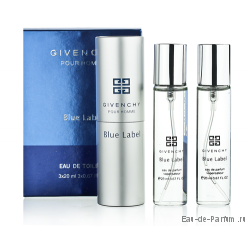 "Givenchy ""Pour Homme Blue Label"" Twist & Spray 3х20ml men"